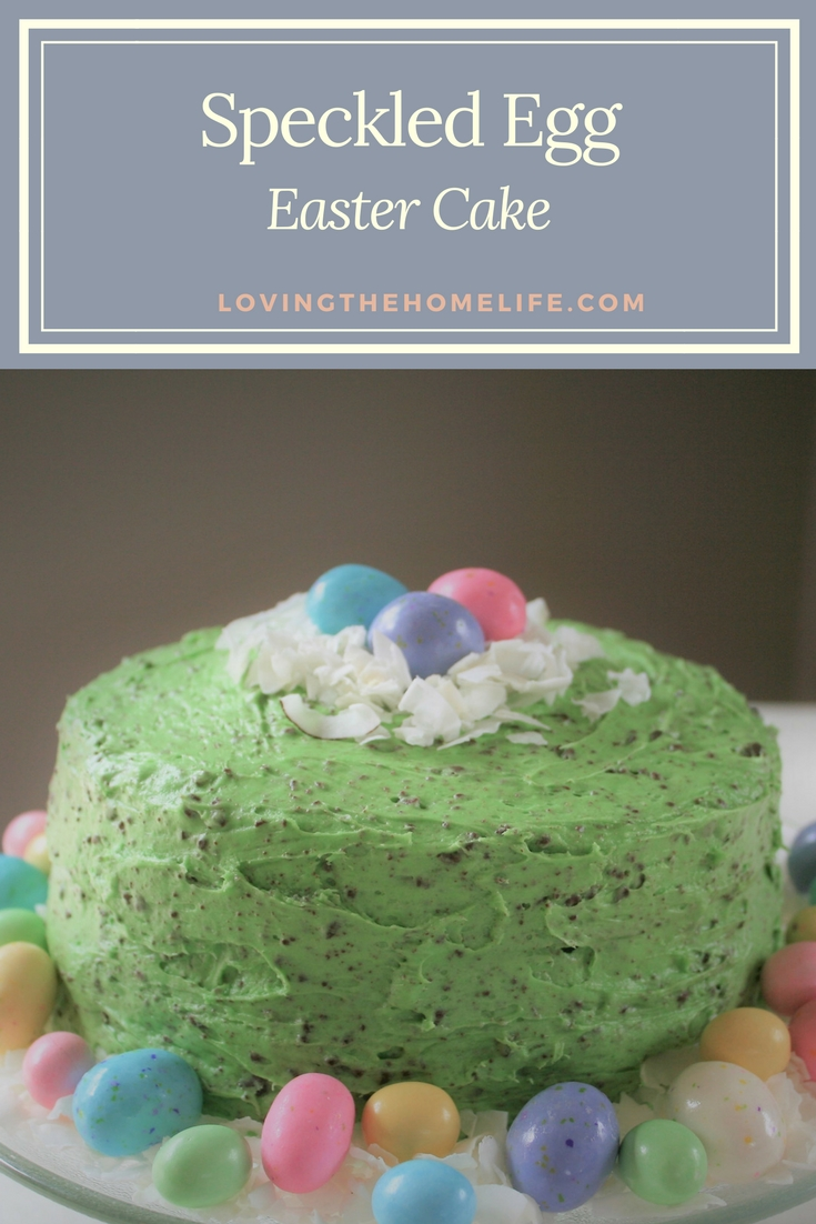 Easter cake, easter, cake, speckled eggs, malted milk eggs, celebrate, coconut, chocolate chips, candy, cream of coconut, eggs