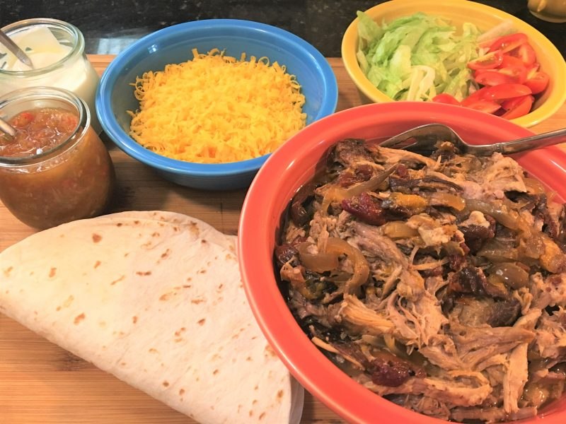 carnitas, meal prep, leftovers, quick meals, easy meals, pork, , oranges, onions, limes, chipotle, crock pot, slow cooker