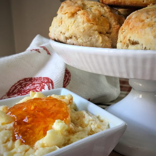 Buttermilk Biscuits with Flavored Butters Pin