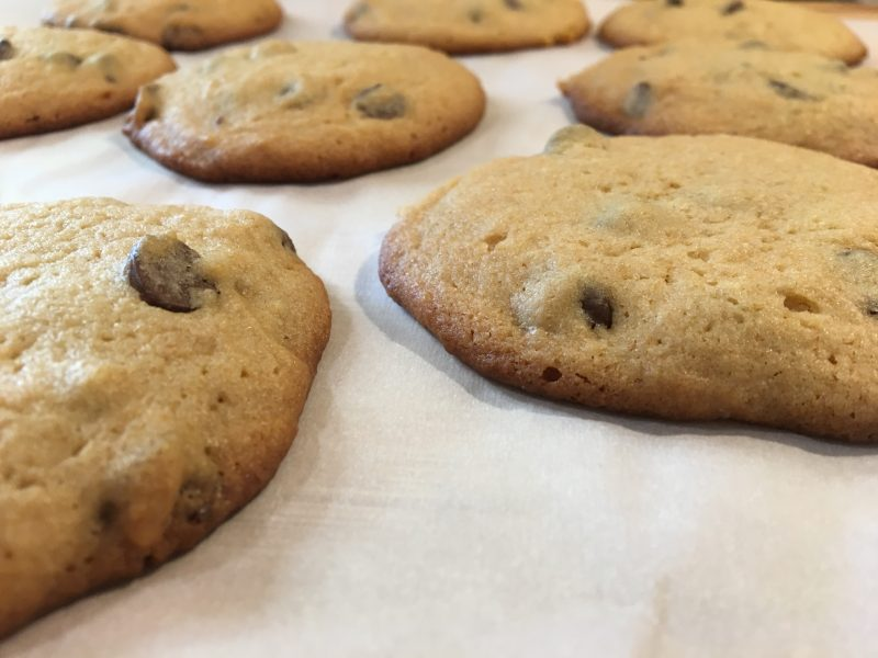 chocolate chip cookies, malted chocolate chip cookies, malt, chocolate chips, home cooking, cookies, homemade, homemade cookies, butter, sugar, brown sugar, malted milk powder