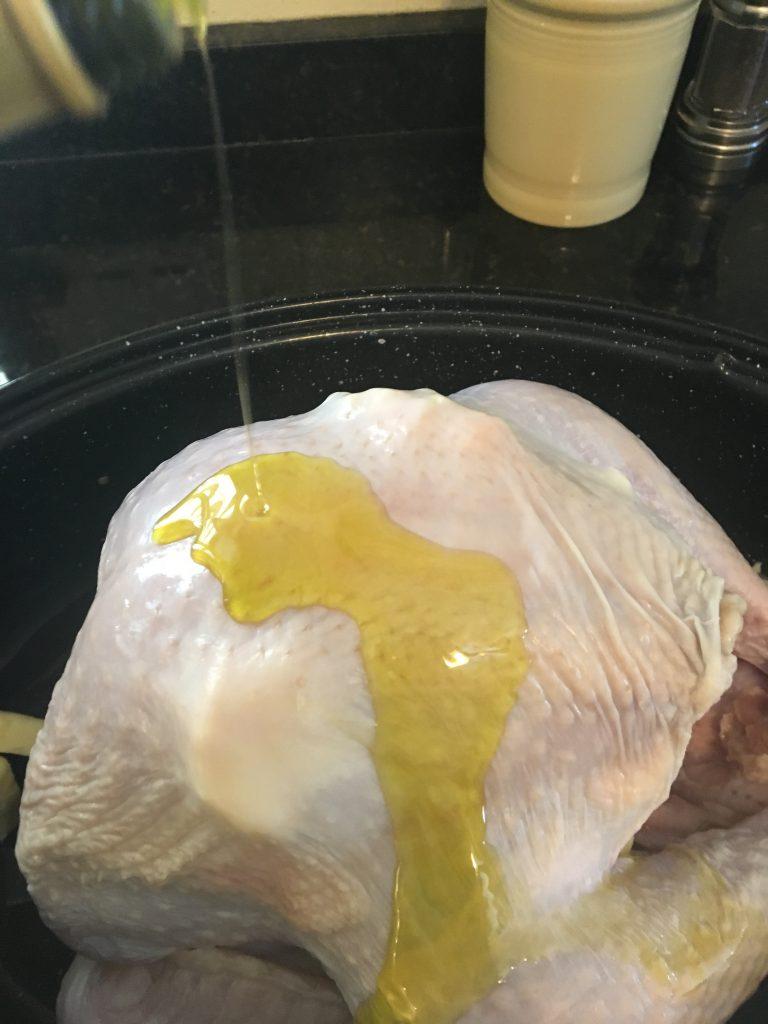 Thanksgiving turkey, turkey, bake a turkey, cook a turkey, frozen turkey, prepare a turkey, butter, roasting pan, oven, dinner