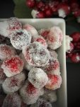 frosted cranberries, garnish, cranberries, holiday sparkle