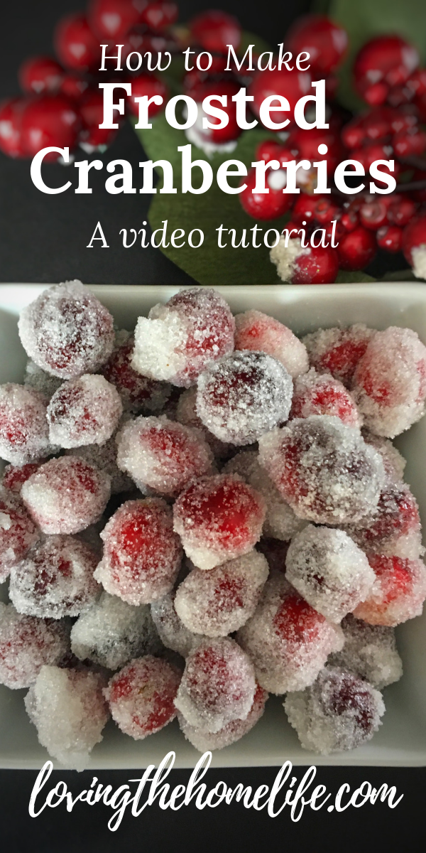 Frosted Cranberries video, frosted cranberries, Christmas, cranberries, sugar, garnish