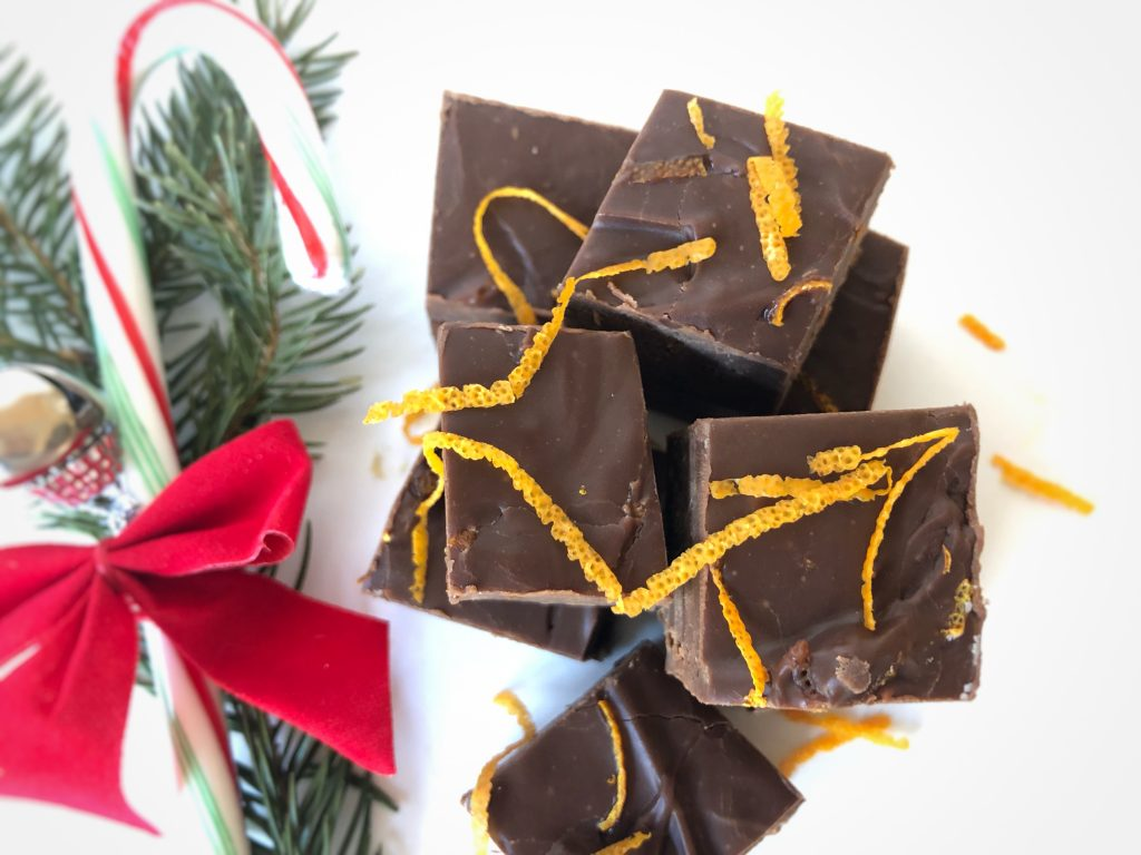 microwave fudge, Christmas candy, Christmas fudge, Christmas, fudge, easy fudge recipe, white chocolate peppermint, salted caramel, dark chocolate orange