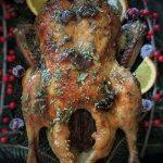 Roast Duck with Fig Tarragon Glaze