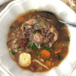 Slow Cooker Oxtail Barley Soup
