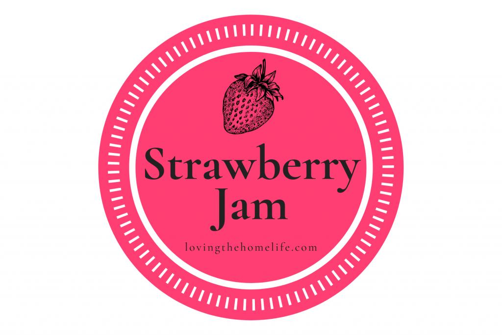 homemade strawberry jam printable label